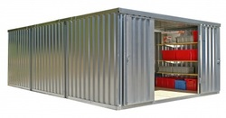 3 dobbelt materialecontainer